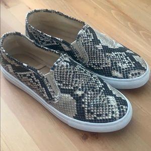 Altar'd State snakeskin slip on sneakers-size 7/12